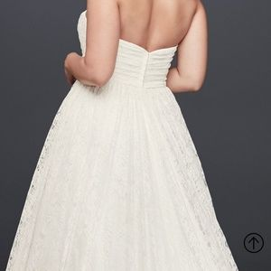 NWT white lace wedding gown